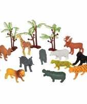 15x plastic speelgoed wilde mini dieren in emmertje trend