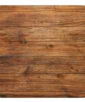 15x stuks houtlook onderzetters bierviltjes van karton eco natuur thema bruin trend