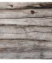 15x stuks houtlook onderzetters bierviltjes van karton eco natuur thema grijs trend