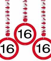 16 jaar versiering stopbord rotorspiralen 6 x trend