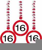 16 jaar versiering stopbord rotorspiralen trend