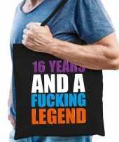 16 year legend 16 jaar legende cadeau tas zwart voor heren trend