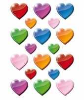 162x gekleurde hartjes figuren stickers trend