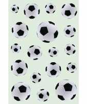 162x zwart witte voetballen stickers trend