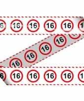 16e verjaardag markeerlint stopbord trend