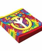 16x hippie themafeest servetten 33 cm trend