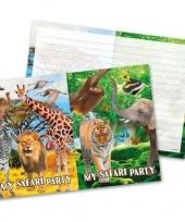 16x safari jungle themafeest uitnodigingen 27 cm trend