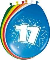 16x stuks ballonnen 11 jaar trend