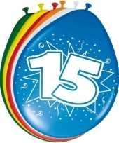 16x stuks ballonnen 15 jaar trend