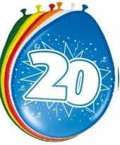 16x stuks ballonnen 20 jaar trend