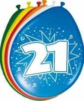 16x stuks ballonnen 21 jaar trend