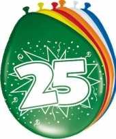 16x stuks ballonnen 25 jaar trend