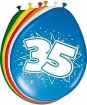 16x stuks ballonnen 35 jaar trend