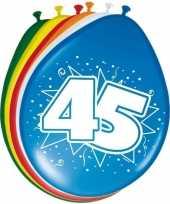 16x stuks ballonnen 45 jaar trend