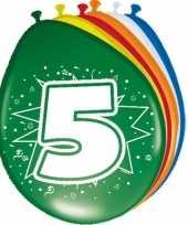 16x stuks ballonnen 5 jaar trend