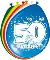 16x stuks ballonnen 50 jaar abraham trend