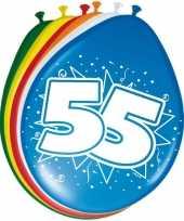 16x stuks ballonnen 55 jaar trend