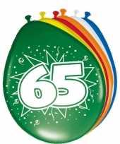 16x stuks ballonnen 65 jaar trend