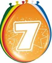 16x stuks ballonnen 7 jaar trend