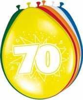 16x stuks ballonnen 70 jaar trend