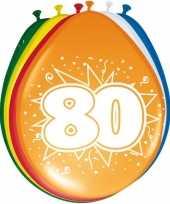 16x stuks ballonnen 80 jaar trend