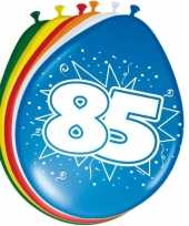 16x stuks ballonnen 85 jaar trend