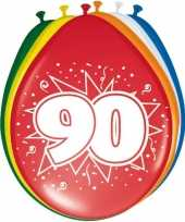 16x stuks ballonnen 90 jaar trend