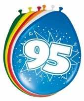 16x stuks ballonnen 95 jaar trend