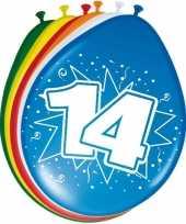 16x stuks leeftijd ballonnen 14 jaar trend
