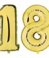 18 jaar gouden folie ballonnen 88 cm leeftijd cijfer trend