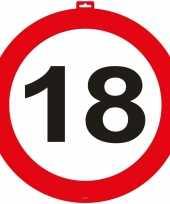 18 jaar verkeersbord deurbord 47 cm trend