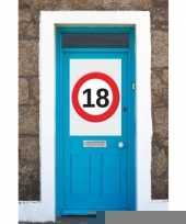 18 jaar verkeersbord deurposter a1 trend