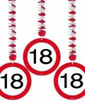 18 jaar versiering rotorspiralen stopbord 6 stuks trend