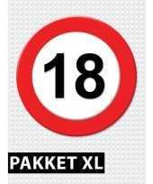 18 jarige verkeerbord decoratie pakket xl trend