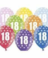 18e verjaardag ballonnen met sterretjes trend