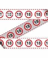 18e verjaardag markeerlint stopbord trend