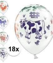 18x boerderij dieren thema verjaardag ballonnen trend