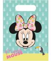 18x disney minnie mouse tropical themafeest uitdeelzakjes trend