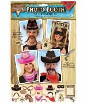 18x foto props cowboy feestje trend