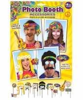 18x foto props hippie feestje trend