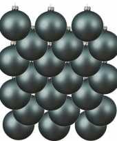 18x ijsblauwe glazen kerstballen 6 cm mat trend
