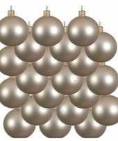 18x licht parel champagne glazen kerstballen 8 cm mat trend