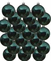 18x turquoise blauwe glazen kerstballen 6 cm glans trend