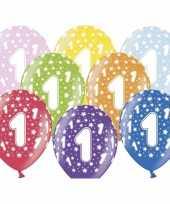 1e verjaardag ballonnen met sterretjes trend
