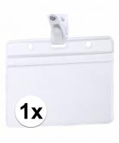 1x badgehouders naam kaarthouders 11 5 x 9 2 cm trend