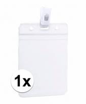 1x badgehouders naam kaarthouders 8 5 x 12 2 cm trend