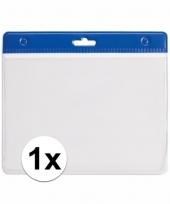 1x blauwe naamkaarthouder voor beurzen 11 2 x 58 cm trend