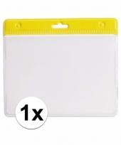 1x gele naamkaarthouder voor beurzen 11 2 x 58 cm trend