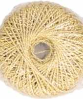 1x gouden glitter touw 20 meter hobby cadeaulint trend
