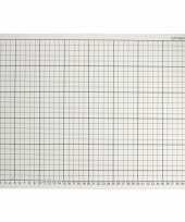 1x grijze hobby snijmat 30 x 45 cm a3 formaat trend
